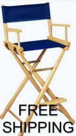 Gold medal wooden tall classic directors chair