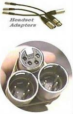 Headset Adapters with special mini XLR connectors