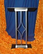 contemporary curved diamond lectern podium