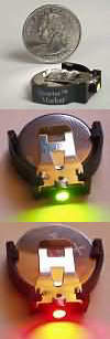 Quarter Marker is an LED stage marker the size of a quarter and comes either red-green or red-yellow